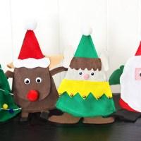 Christmas Felt Candy Holders