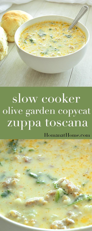 Slow Cooker Olive Garden Copycat Zuppa Toscana | Homan at Home