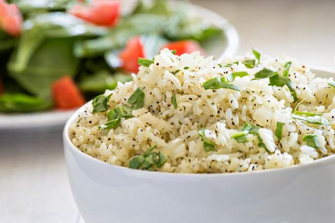Garlic Parmesan Rice | Homan at Home