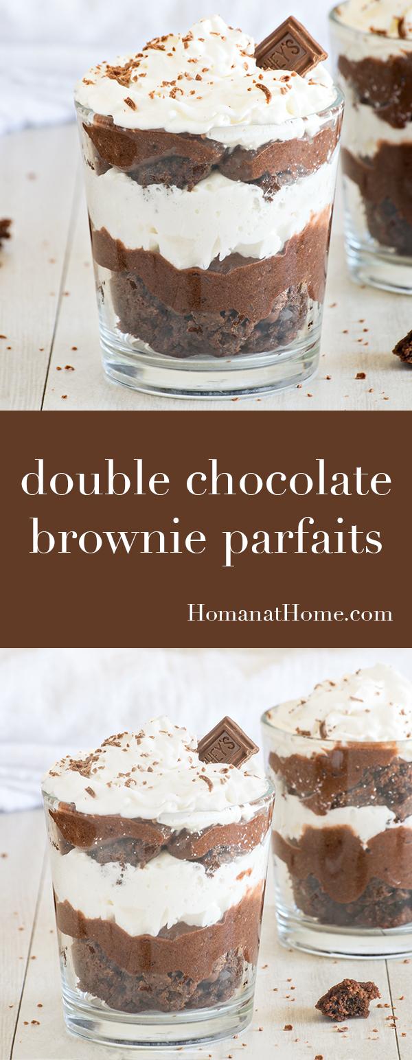 Double Chocolate Brownie Parfaits | Homan at Home