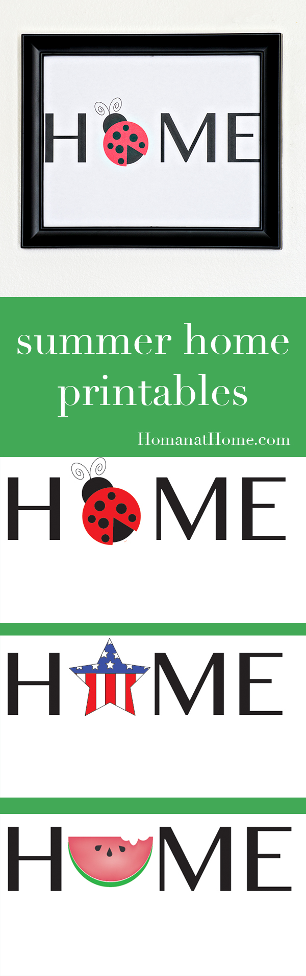 Summer Home Printables | Homan at Home