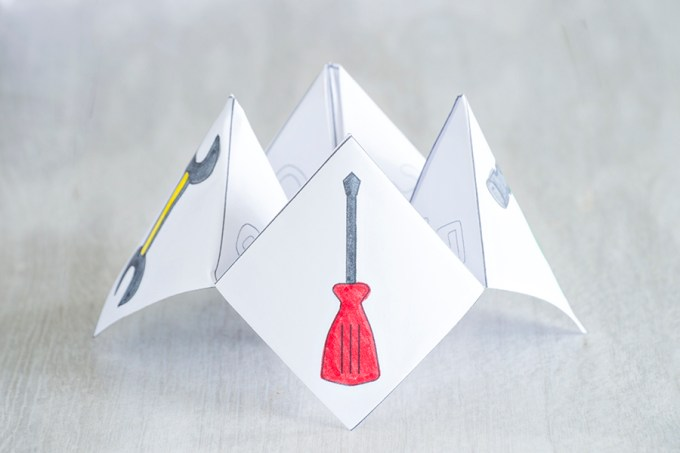 Fathers Day Cootie Catcher   Homan at Home