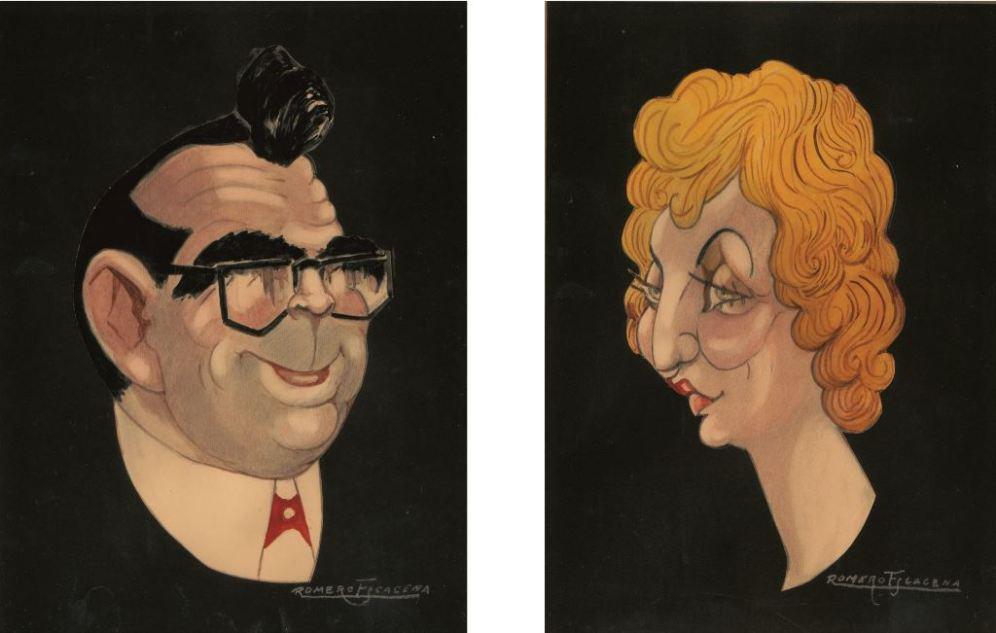 Caricaturas Tere y Juan Archivo VASIL