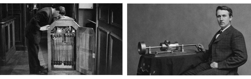Kinetoscopio y Vitoscope de Edison german esteban hombredepalo