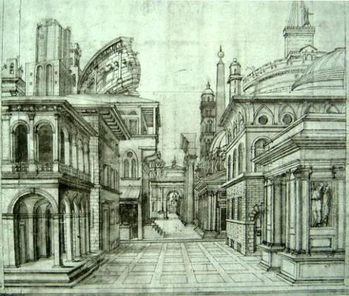 Baldassarre Peruzzi, perspectiva.