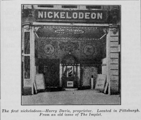 Nickelodeon Pittsburgh, fachada 1905