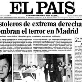Portada de El País del 25 de abril de 1977