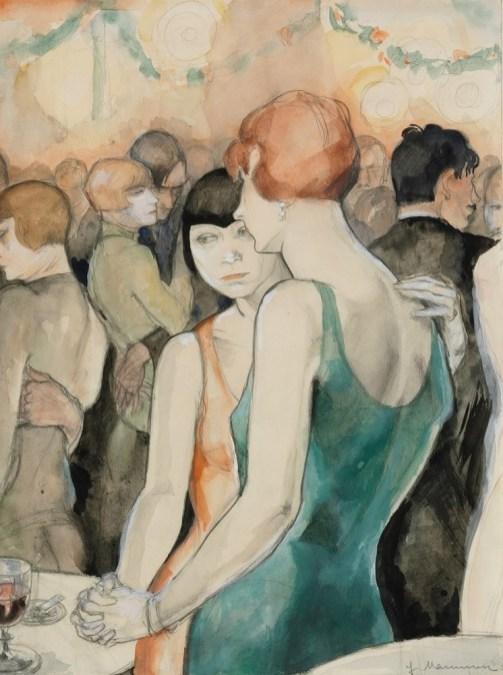 Dos mujeres bailando. Jeanne Mammen 1928..