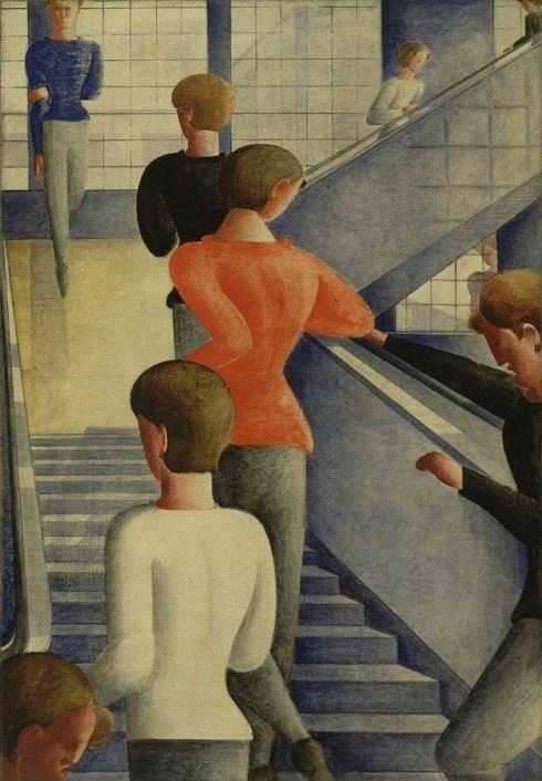 Escalera de la Bauhaus de Oskar Schlemmer, 1932.