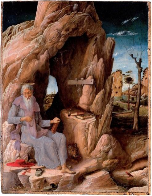 Andrea Mantegna: San Jerónimo Penitente en el Desierto.