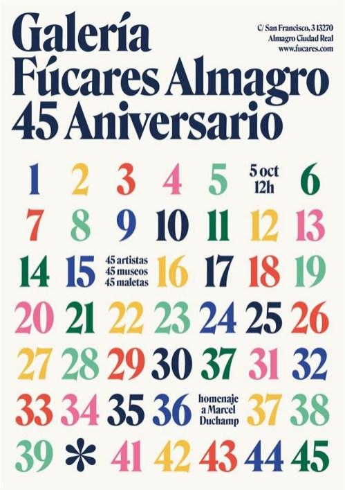 Cartel del 45 aniversario de Fúcares.