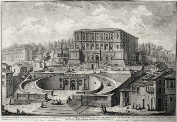 Vista del Palacio Farnesio de Caprarola.