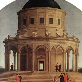 """""""Los desposorios de la Virgen"""" Rafael 1504"""
