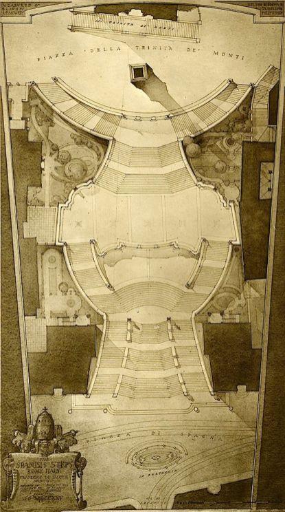 Roma. La Scalinata di Trinità dei Monti 1723-26
