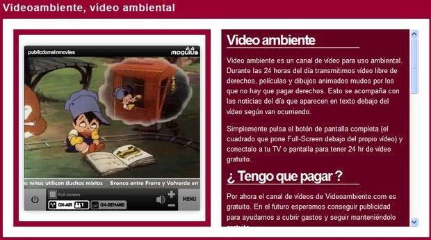 video ambiente
