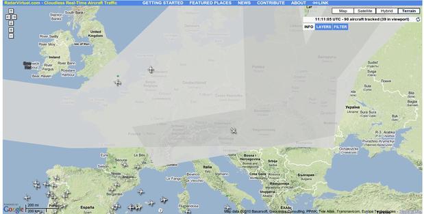 La Nube Volcánica De Cenizas Sobre Europa En Tiempo Real