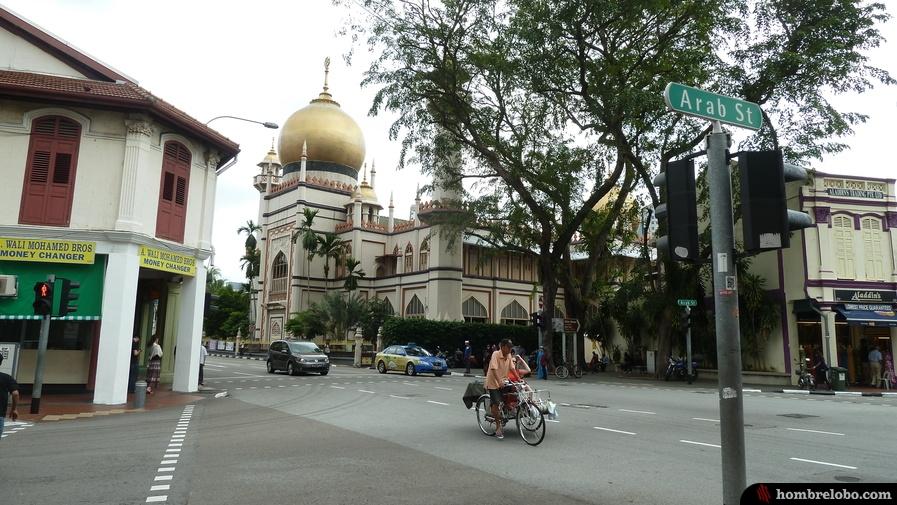 Mezquita en la calle árabe de Singapur