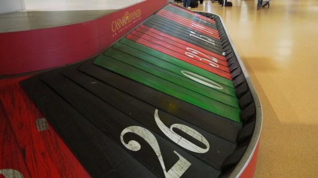 Los números de la ruleta del Casino de Venecia en el aeropuerto de Venecia