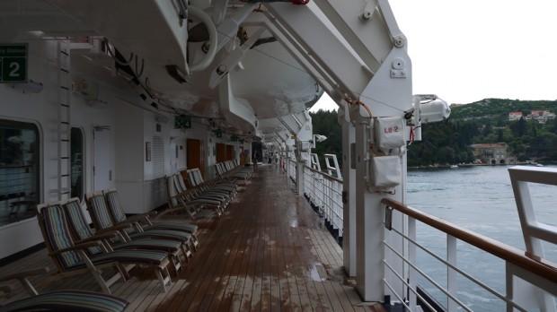 La cubierta del Nieuw Amsterdam