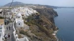 Santorini, al borde del cráter del volcán