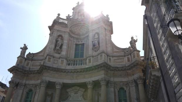 La Plaza del Duomo en Catania