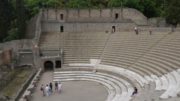 El anfiteatro, uno de los que hay en Pompeya
