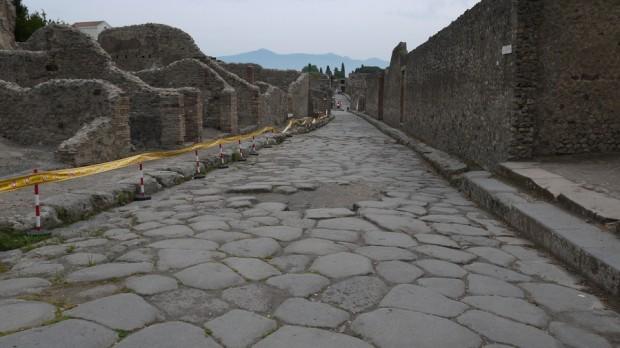 Una calle romana, en perfectas condiciones