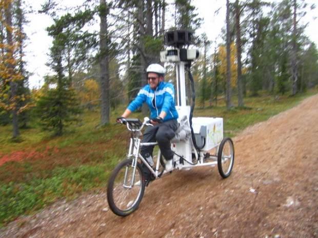 El carro Google Street View en la Laponia Finlandesa