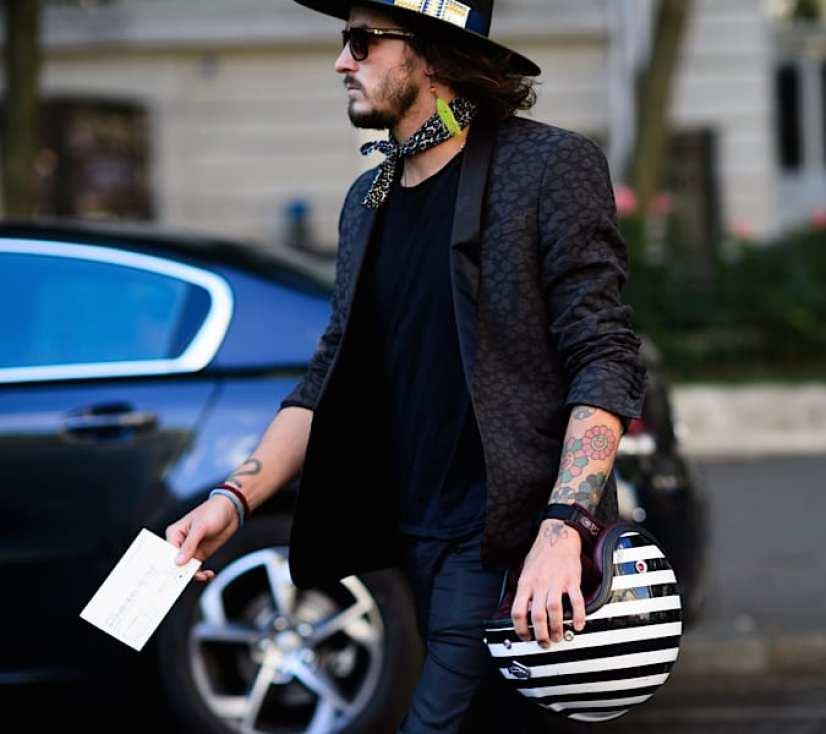Moda en la calle, animal print para hombres (4)