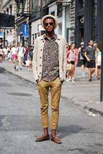 Moda en la calle, animal print para hombres (8)