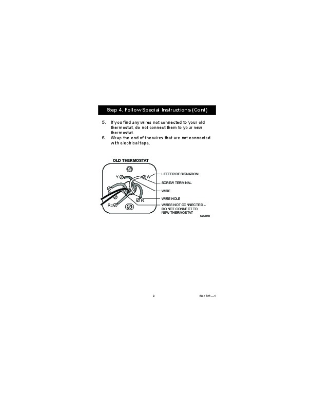 honeywell rth7400d programmable thermostats owners guide 9?resize=612%2C792&ssl=1 wiring diagram for honeywell programmable thermostat wiring diagram,Honeywell Thermostat Rth5100b Wiring