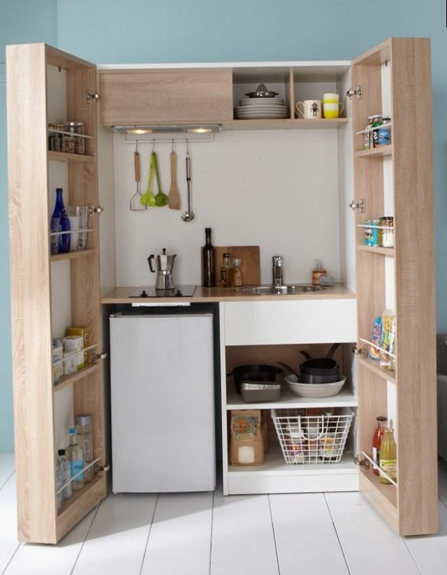 Компактная кухня в стиле минимализм