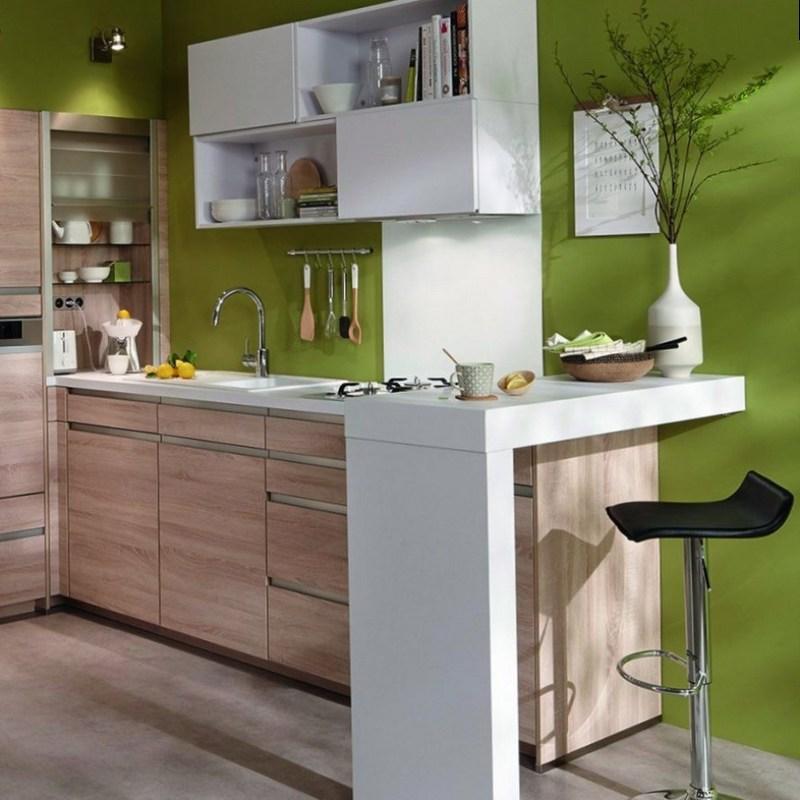 Дизайн світлої кухні в стилі мінімалізм