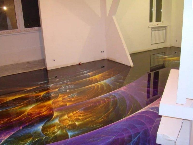 наливные полы для квартиры фото