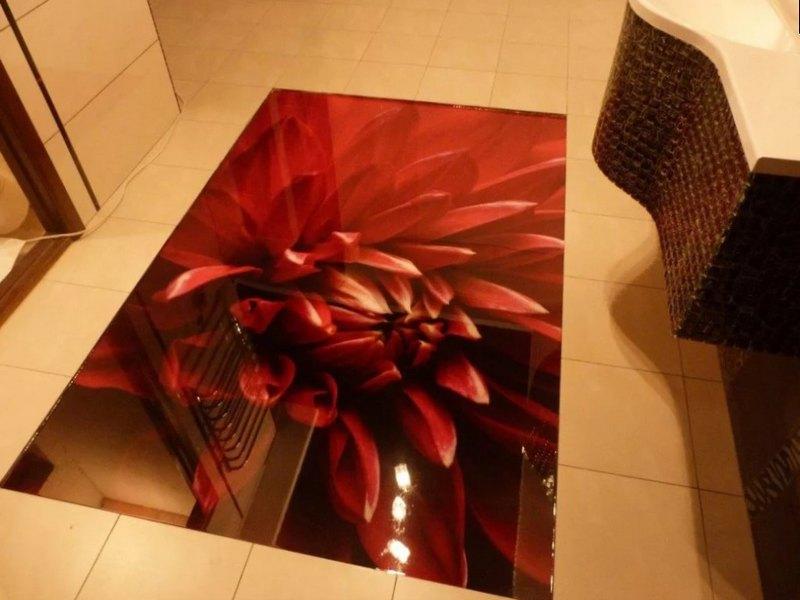наливной пол в квартире виде цветка