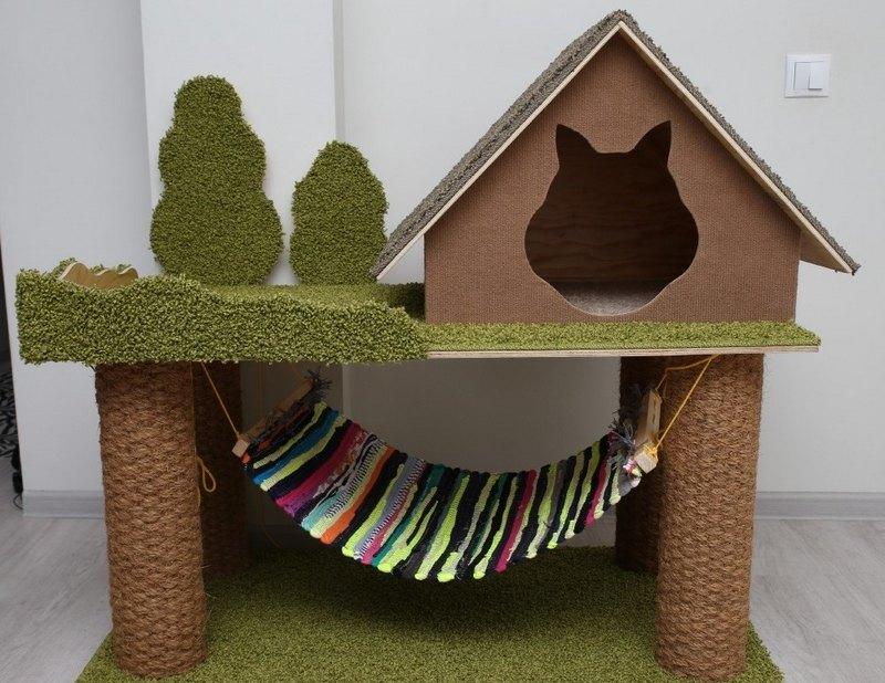 гамак с домиком для кота