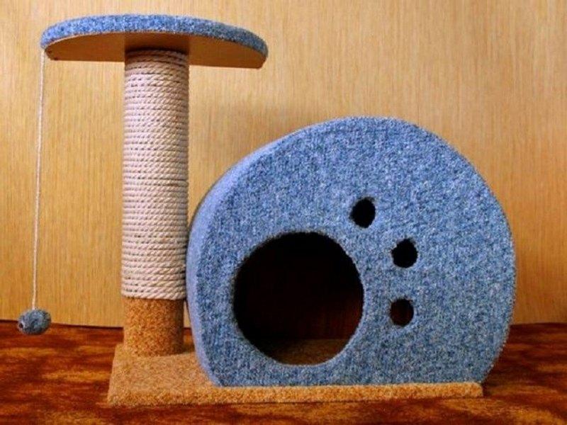 мягкий домик для кошки своими руками