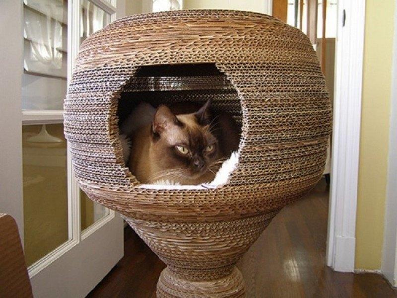 как сделать из картона дом