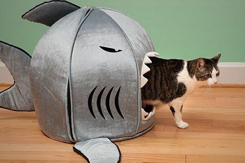как сшить дом для кошки виде рыбки