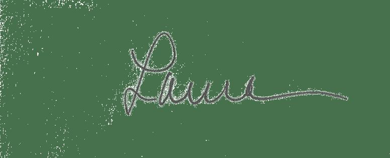 Laura's signature