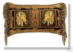 подушка с индийскими слонами хенд-мейд