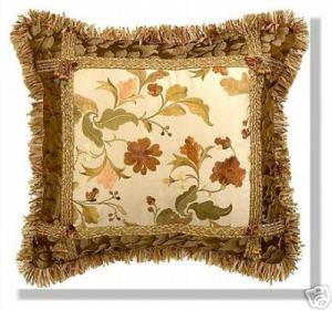 подушка с узорами хенд-мейд