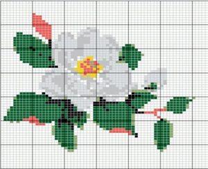 цветок яблони схема для вышивания