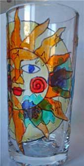 стакан витражными красками
