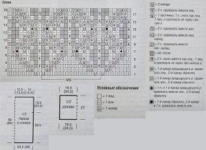 схема вязания туники выкройка условные обозначения
