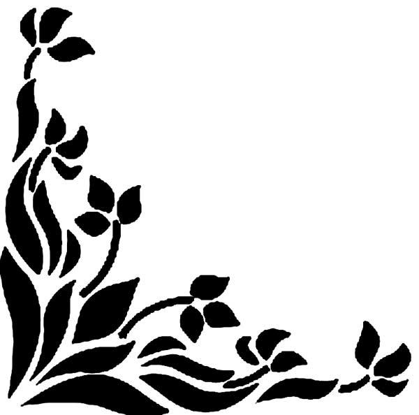 Угловой трафарет для росписи стен и мебели