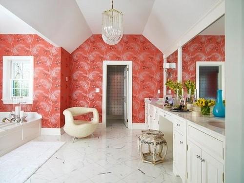 яркий декор ванной комнаты