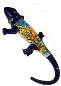ящерица с мексиканской росписью