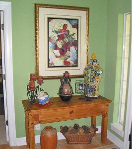 интерьер в мексиканском стиле - стол