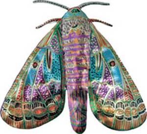 бабочка из бумаги роспись акрилом